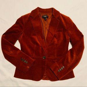 Talbots Velvet Orange Brown Blazer